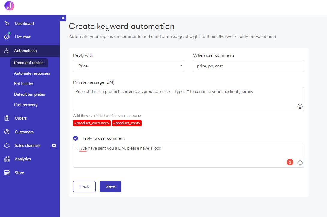 Jumper Review - Comment automation
